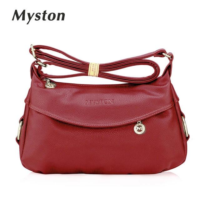 Myston Brand Women Snakeskin Genuine Leather Classic Designer Shoulder Bag Handbags Elunic Female Bags