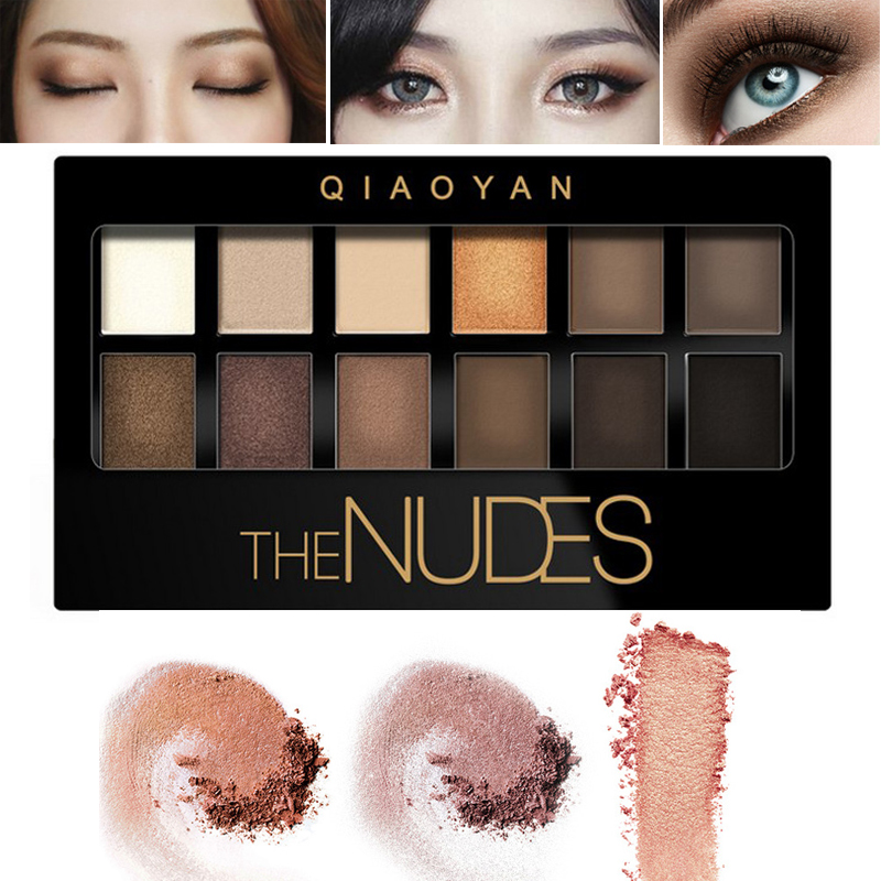 Eye Shadow The Best Brand 12 Colors Shimmer Matte Eyeshadow Makeup Palette Long Lasting Eye Shadow Natural Nude Eyeshadow With Brush Kits Beauty Essentials