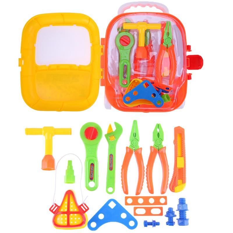 18pcs/set Repair Tools Toy Children Builders Plastic tool Set Kids Pretend Play Classic Toys Educational Baby Early Learning Toy