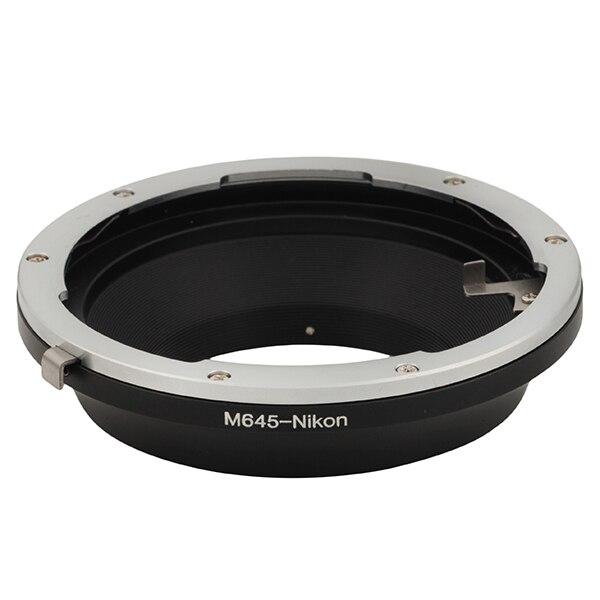 Venes M645-Nik adaptateur de montage bague costume pour Mamiya 645 objectif à Nikon caméra D810A D7200 D5500 D750 D810 D5300 D3300 Df D610 D7100