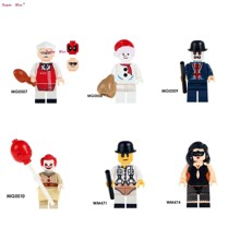 Single Mr. Kentucky Figures Pennywise Redux Vampire Horror Theme Movie Clockwork Orange Stripper building block toy for children(China)