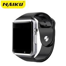 Fábrica A1 Reloj Inteligente Con Cámara Tarjeta SIM Llamada Pasómetro Smartwatch Para Xiaomi Huawei HTC Android Teléfono Mejor Que GT08 DZ09