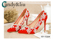 Spring summer new crystal shoes wedding shoes bride shoes toast dress shoes