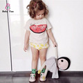 2016 Watermelon Print  Kids T-Shirts Bobo Choses Short Sleeve Children T shirt Tops Tee O-Neck Children Boys Girl Clothing