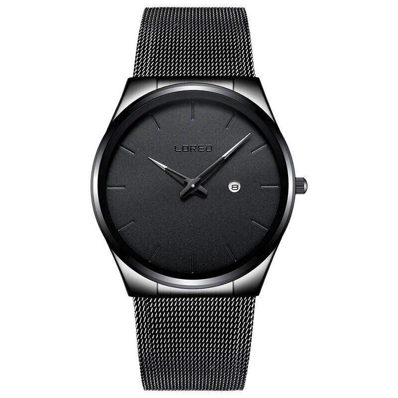 LOREO 1110 Germany watches men luxury brand Bauhaus Wrist Watches Leather Male Quartz Clock Boys Wristwatch Relogio Masculino