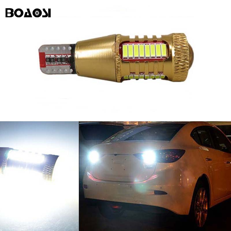 BOAOSI 1x T15 W16W LED Car Canbus Rear Reversing Tail Light lamps For mazda 6 8 cx-3 cx3 cx-5 cx5 8 cx 5 m8 rx8 mazda m5 2008 deechooll 2pcs wedge light for mazda 2 3 5 6 mx5 rx8 cx7 626 gf gg ge gw canbus t10 57smd 6w led clearance xenon lighting bulbs