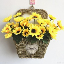1 Bouquet Lifelike Artificial Sunflower Plastic Heads Home Party Decorations Props
