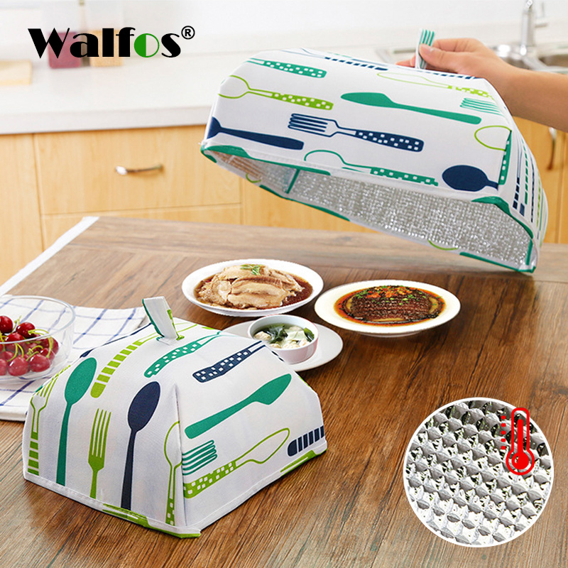 Kitchen Table With Food: WALFOS Foldable Food Covers 2018 Keep Warm Aluminum Foil Dishes Cover Insulation Kitchen Table