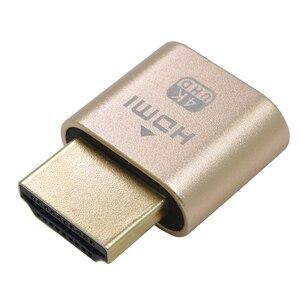 Image 2 - محول عرض المحاكي ملحقات الكمبيوتر كتلة لوحة VGA الظاهري 1920x1080 4K الدمية التوصيل مقطوعة الرأس موصل قفل HDMI