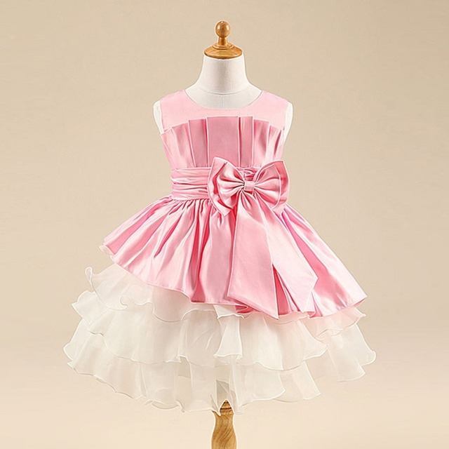 Hiheart 2016 cute bow pageant girls drape dress princess kids hiheart 2016 cute bow pageant girls drape dress princess kids layered clothes baby party dresses mini voltagebd Choice Image