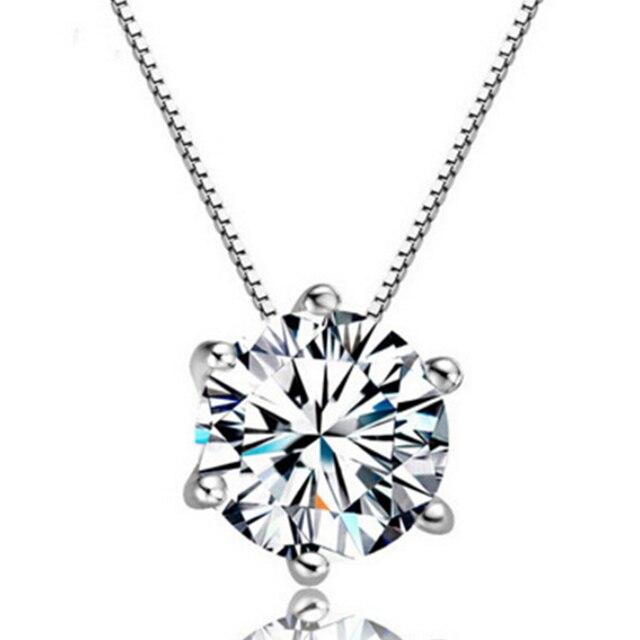 1f04e632077e Caliente 2019 nuevo Single delicado redondo de plata de diamantes de  imitación Chapado en moda elegante