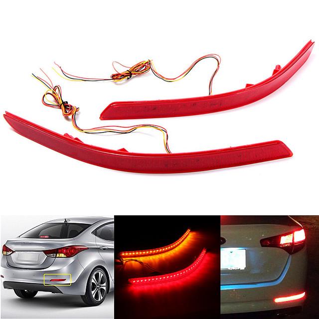 Vermelho/Âmbar Luzes de Advertência Luz de Freio Da Cauda Do Carro LEVOU Choques Refletor Traseiro luz de Nevoeiro Para KIA Optima K5 2014 2015 Car Styling