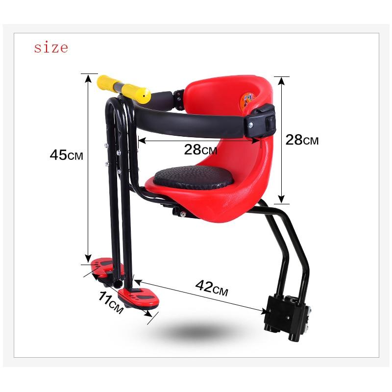 Venta caliente 2018 nueva bicicleta de carretera de montaña asiento de seguridad para niños silla frontal de bicicleta para niños adecuada para 0-6 años bebé - 6