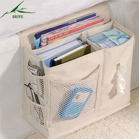 Multifunctional Bedside Hanging Storage Bag Hang Sundries Magazines Remote Control Books Phone Tissue Holder Organizer