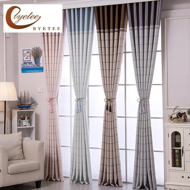 Byetee Modern Living Room Luxury Window Curtains Striped: [byetee] Blackout Kitchen Luxury Modern Grommet Curtains