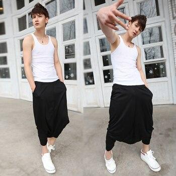 Loose Pantalon 2016 Summer Style Drop Crotch Pants Men Hip Hop Dance Sweatpants Casual Pants Men Famous Brand Harem Pants Men 2