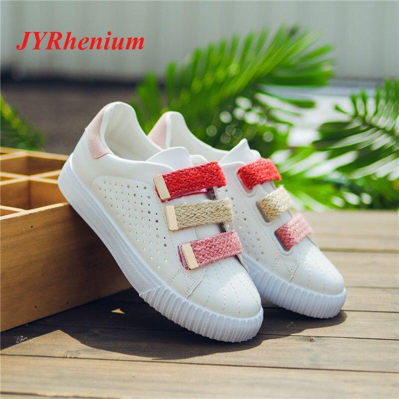 JYRhenium Women Shoes Summer 2018 Spring Breathable Hollow Lace-Up Women Sneakers Skateb ...