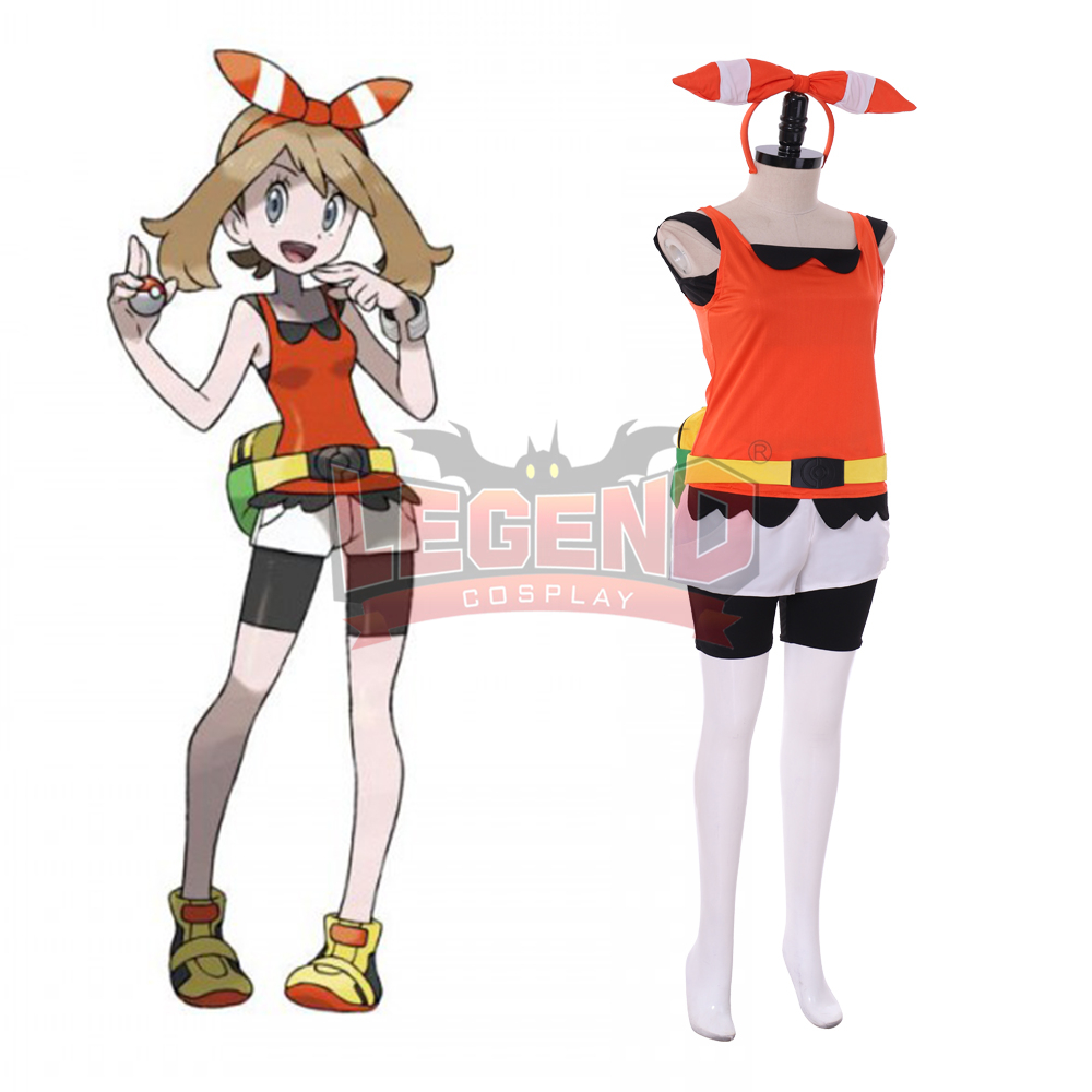 Pokemon Omega Ruby and Alpha Sapphire May Haruka Costume Cosplay custom made Halloween costume image