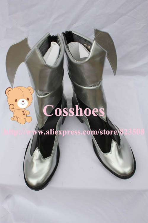 Costum tillverkade Aqua Shoes från Kingdom Hearts Cosplay