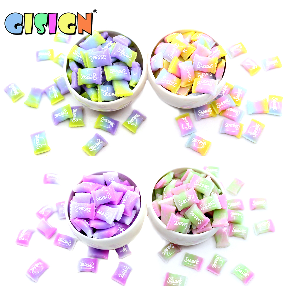 Slime charms 5Pcs Charms Love Sweet Sugar Bead model tool for Slime Toys Children Addition Modeling Clay 8