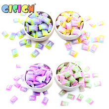 5Pcs Sweet Sugar Bead Charms for DIY Fluffy Slime Antistress Toys Accessories Addition Filler for Polymer Soft Modeling Clay(China)