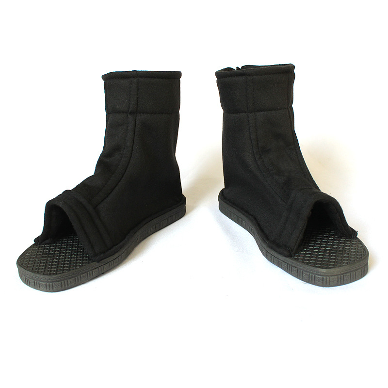 Size 34-45  Naruto Ninja Kakashi Cosplay Shoes Konoha Black Blue Color Naruto Cosplay Akatsuki Shoes