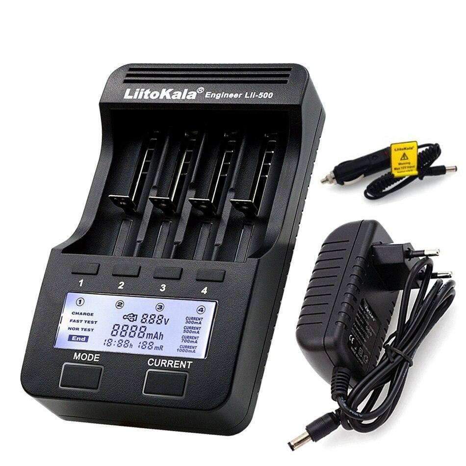 Liitokala Lii-500 100 202 402 300 1,2 v Aa Aaa Nimh Lithium-Batterie Ladegerät Lcd 3,7 v 18650 18350 16340 10440 14500 26650 20170 EU