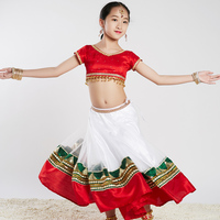 New Indian Dance Clothing Girls Belly Dance Costume Bollywood Dance Performance Costume Kids Oriental Dance Costume DQL932