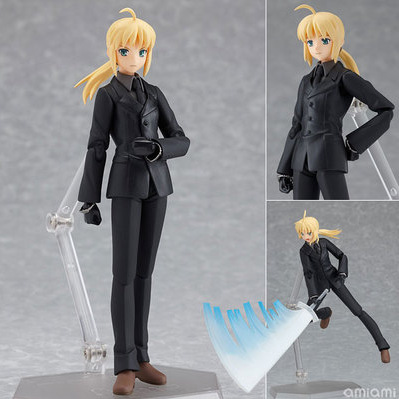 hot Anime Figma 126 Fate Stay Night Zero Saber Black Suit Anime Figure Version 15cm Brinquedos PVC Action Figure fate stay night fate extra red saber pvc figure toy anime collection new