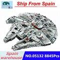 Star war serie 05132 Destroyer Millennium Falcon Compatibel met Legoing Oorlog 75192 8845 pcs met figuur bouwstenen model
