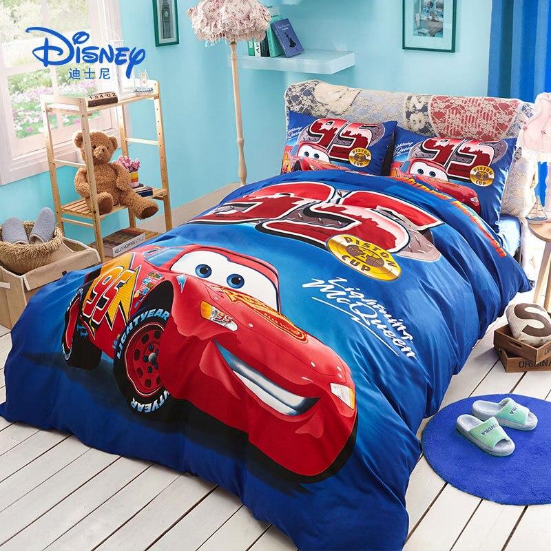 Mother & Kids 1.5m /1.8m Bed Disney Frozen Childrens Cotton Sheets Quilt Cover Pillowcase Boy Girl Bedding Sets Four-piece Spiderman Cartoon