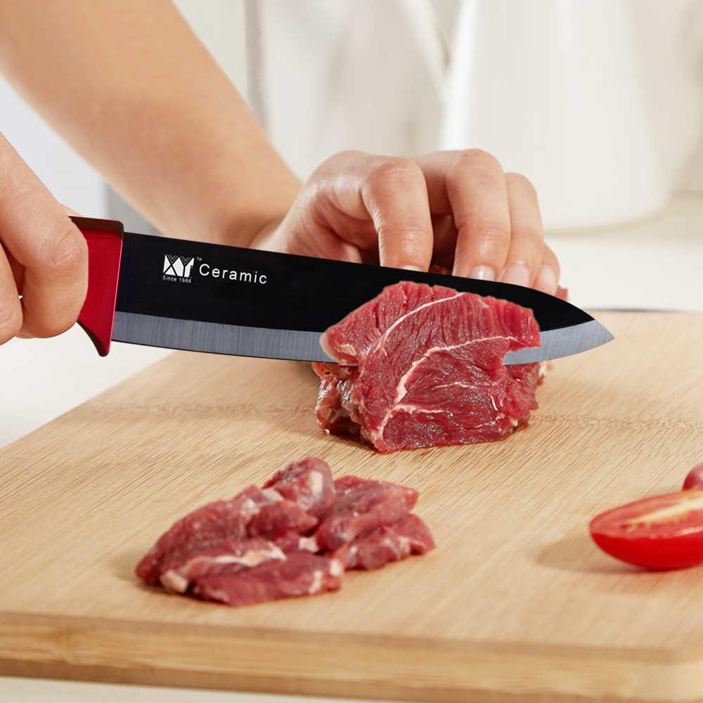 XYj seramik bıçak mutfak bıçakları aracı 3 4 5 6 inç şef bıçağı pişirme seti + soyucu beyaz siyah bıçak çok renkli saplı yüksek kaliteli