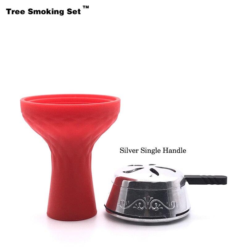 Kaloud Chicha Charcoal Holder Red Bowl Narguile Nargile Hookah Pipe Shisha Accessories Cazoleta Nargile Hortumu Gift TWAN0356