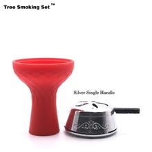 Kaloud Chicha Charcoal Holder Red Bowl Narguile Nargile Hookah Pipe Shisha Accessories Cazoleta Hortumu Gift TWAN0356