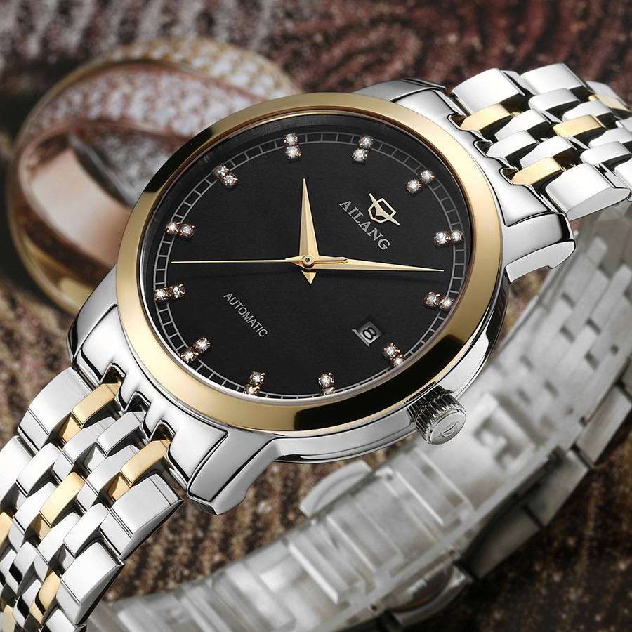 Fashion Businessmen Elegant Full Steel Watches Automatic Self Wind Calendar Clock Business Crystals Dress Relojes Saphir NW3304Fashion Businessmen Elegant Full Steel Watches Automatic Self Wind Calendar Clock Business Crystals Dress Relojes Saphir NW3304