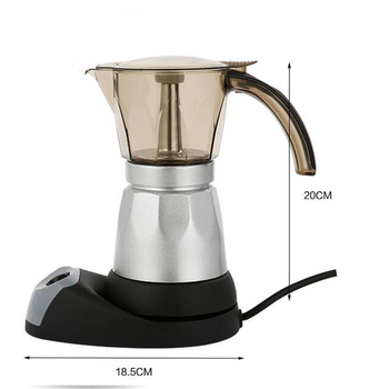 Hot Electric Moka Espresso Coffee Maker 220V/50Hz Cappuccino Maker 300ml LSK99