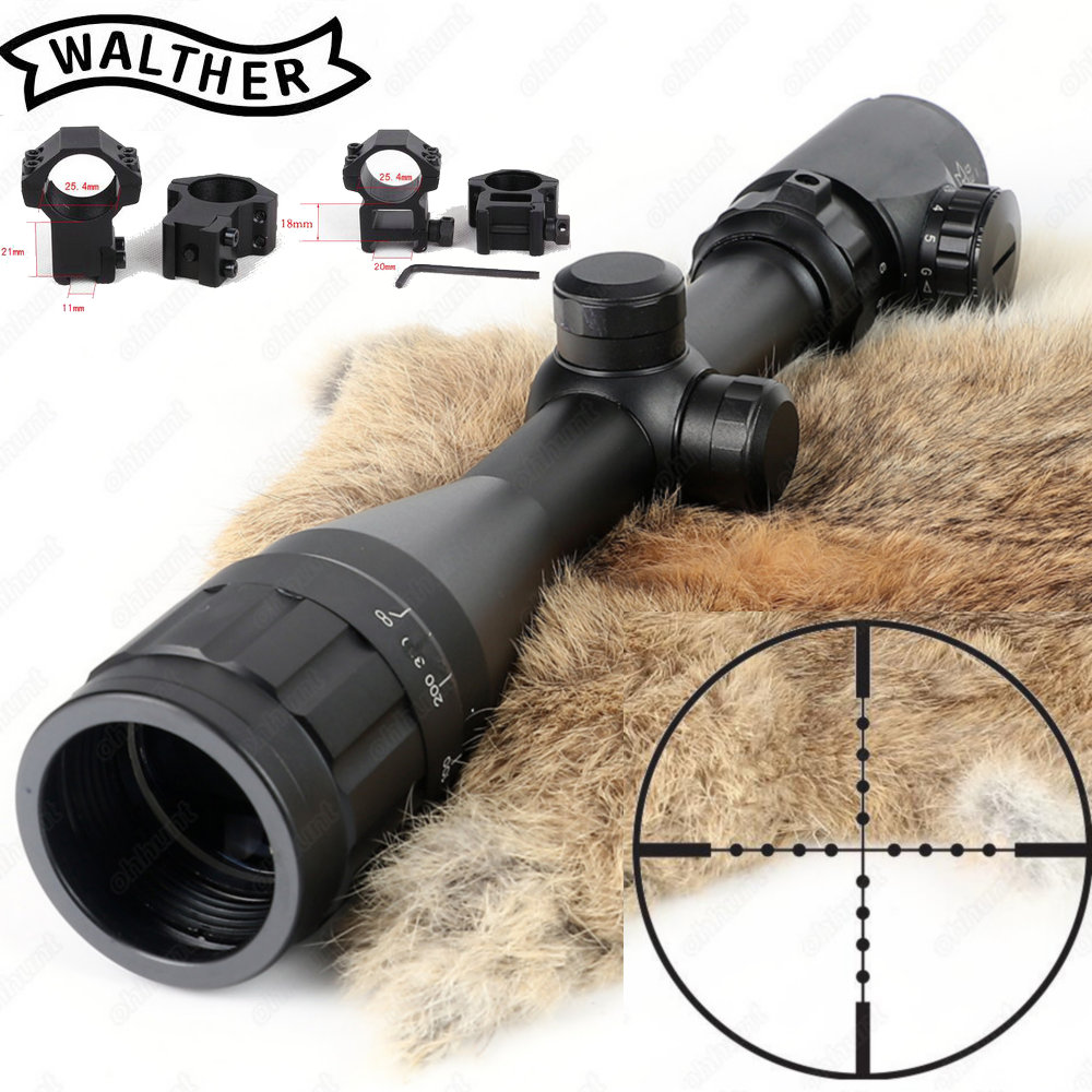 Hunting 3-9x40 AOEG Rifle Scope Mil Dot Reticle Red Green Illuminated Riflescope Tactical Optical Sight Free Shipping 3 10x42 red laser m9b tactical rifle scope red green mil dot reticle with side mounted red laser guaranteed 100%