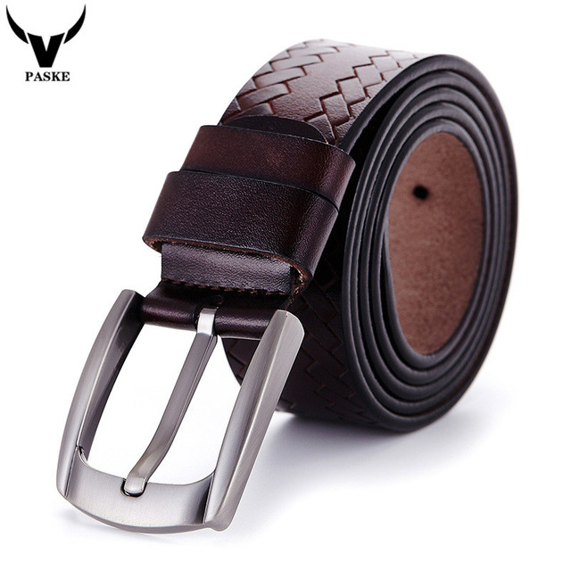 Cinto masculino 2016 de Diseño de Alta Calidad de Cuero Genuino Hebilla Cinturón Hombres Cinturones de Marca de Lujo para Los Hombres de Negocios Cinturones W26