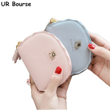 UR BOURSE Women Organ Pu Leather Coin Purse Female Tassel Mini Multi-card Holder Girls Short Ladies Large Capacity Wallet
