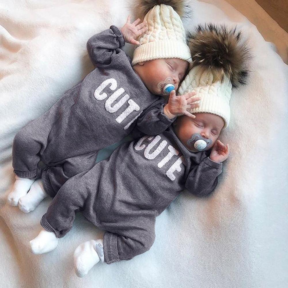 Infantis Costume Romper Newborn Baby Boys Girls Long Sleeve Letter Print Romper Jumpsuit Clothes Fashion Design Body Infantil Aliexpress