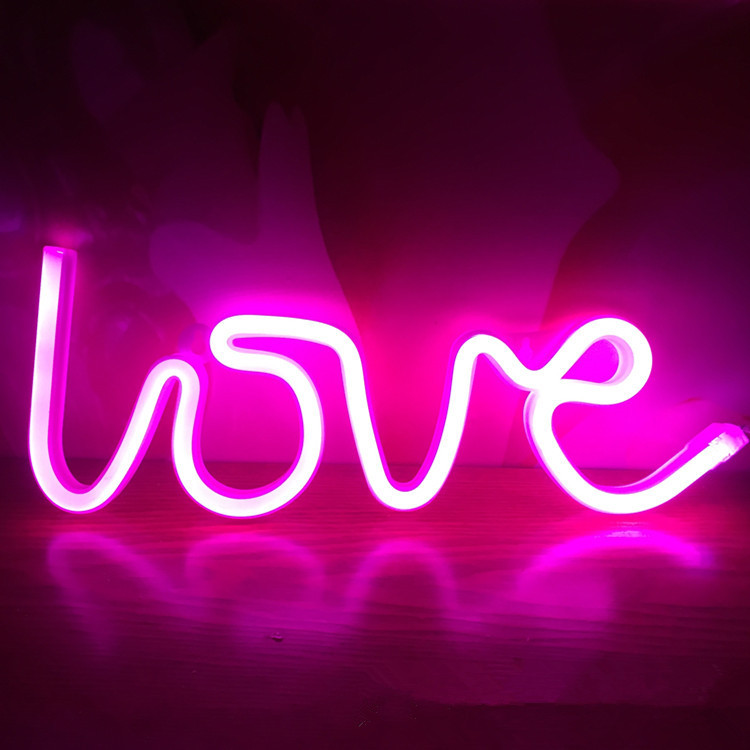 Aimbinet led night lamp usb or battery heart love lightning marquee aimbinet led night lamp usb or battery heart love lightning marquee neon light sign wall light decor for christmas birthday gift in holiday lighting from aloadofball Image collections