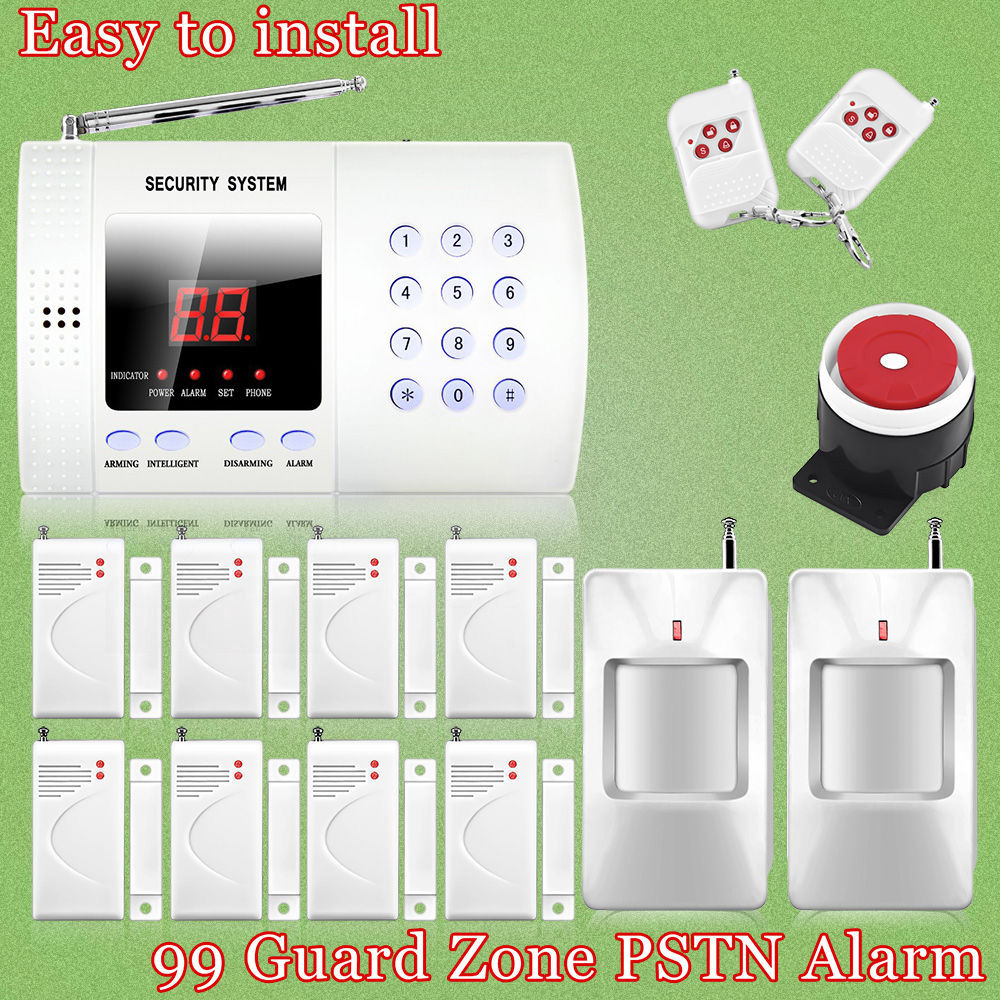 ФОТО Chuangkesafe 99 Zones Wireless Personal Defense Safe PIR Home/house Security PSTN Alarm Burglar Voice System Auto Dial Dialing