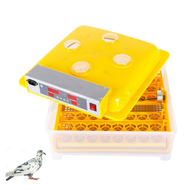 Automatic Intelligent Digital 48 Egg Incubator Hatcher Large Capacity Incubators For Chicken Poultry Eggs Home Use Cheap Price