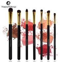 Happy Makeup Pro 7pcs Makeup Cosmetic Pony Horse Hair Smudger Eyeshadow Eye Shader Blending Brushes Brush