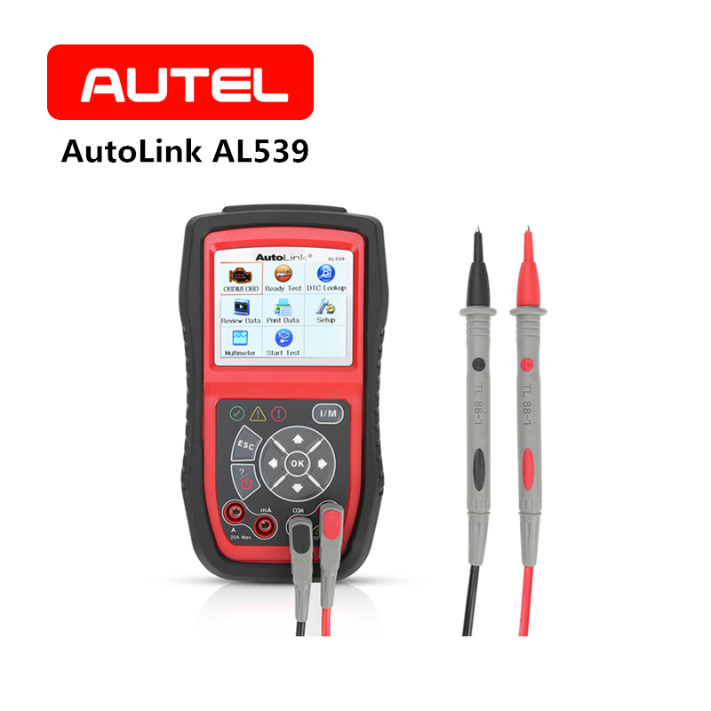 AUTEL AutoLink AL539 OBD2 Auto Scan Tool AVOmeter MIL Full Electrical Circuit Battery Tests Tool I/M Diagnostic Code Reader free shipping high quality autel autolink al301 obd2 can code reader auto link al301 auto diagnostic scan