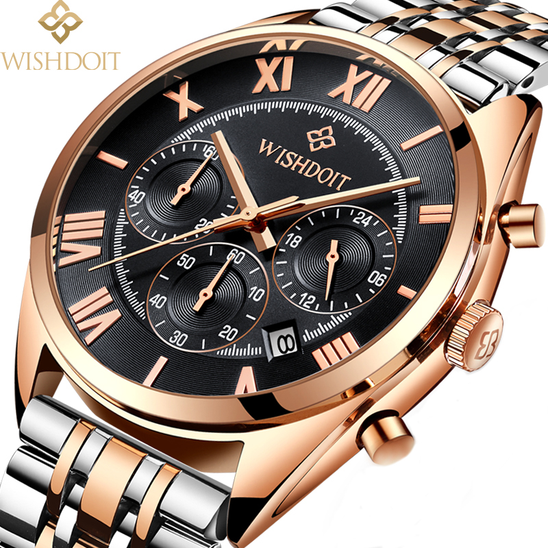 reloj hombre Men Watchs Sports Business Casual Men's Quartz Watches Military Waterproof Male Clock Top Luxury Brand WISHDOIT 5m high big inflatable christmas santa claus climbing wall decoration 16ft high china factory direct sale festival toy