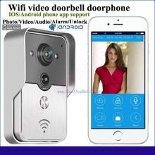 2015 Hot sale Wifi video door phone doorbell Wireless Intercom Support IOS Android for Smart Phone