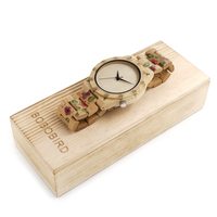 2017 New Design BOBO BIRD Luxury Brand Women Wood Watches Bamboo Quartz Wooden Watch Relogio Feminino