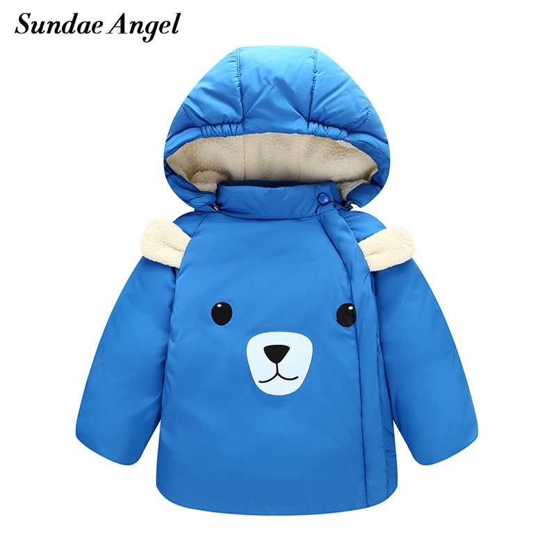 Sundae Ange Baby Parka winter Coats Long Sleeve Polyester Girl winter coat Hooded Cotton Cartoo Outerwear Down Jacket Clothes nid d ange брюки light