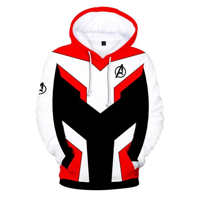 Avengers Endgame Quantum Realm Sweatshirt with hooded Advanced Tech Hoodie Cosplay Costumes 2019 new superhero Iron Man Hoodies 1